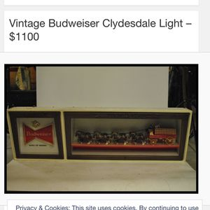 Vintage Clydesdale Lighted Wall Sign for Sale in Santa Ana, CA