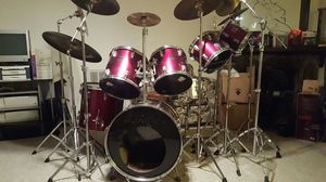 Drum Set: Tama Swingstar 7 pc, 7 Cymbals, $1500. OBO... Price reduced to $1000. for Sale in Tampa, FL