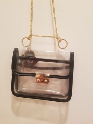 Clear gold chain purse for Sale in Los Angeles, CA