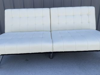 Elegant White Leather Futon for Sale in Exeter, CA