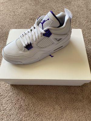 Jordan 4 retro Metallic purple for Sale in Everett, WA
