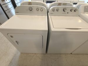 Whirlpool tap load washer used and electric dryer new with 4 month's warranty for Sale in Frederick, MD