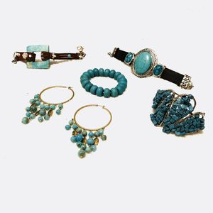 Turquoise Colored Statement Jewelry Bundle for Sale in Fort Stewart, GA
