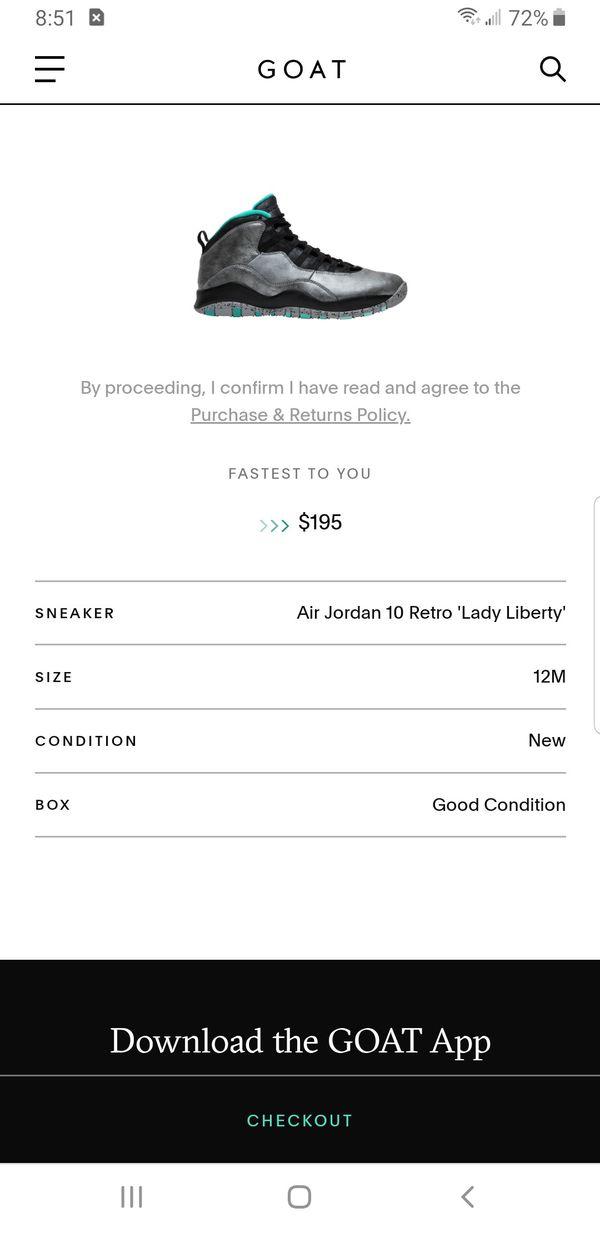 Air Jordan 10 Retro 'Lady Liberty'
