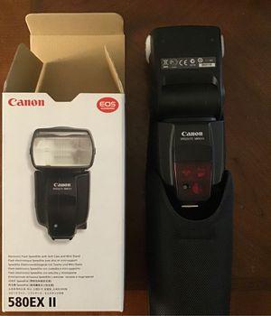 Canon 580EX II Speedlite flash + case + stand for Sale in Chicago, IL