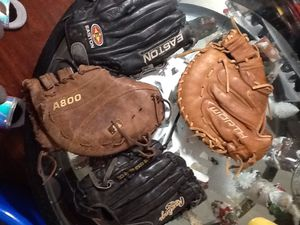 Baseball Glove lot of 4 for Sale in San Antonio, TX