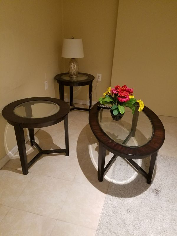 Sofa Table with two side Tables
