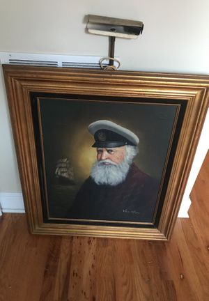 Old painting of captain for Sale in Detroit, MI
