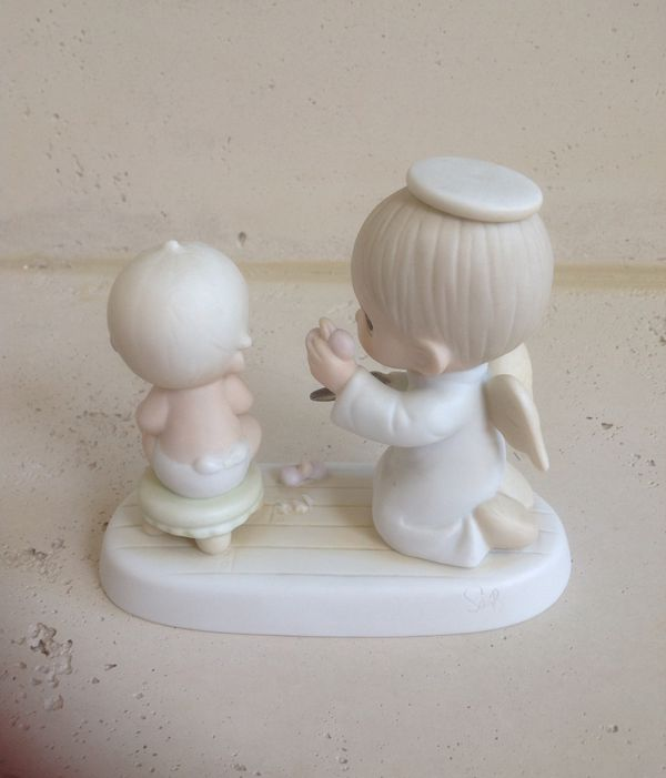 Precious Moments BABY'S FIRST HAIRCUT 1984 Enesco Imports Corp. 12211