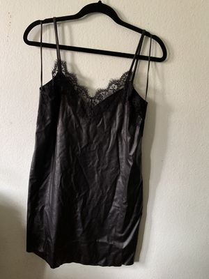 Faux leather black dress for Sale in Pomona, CA