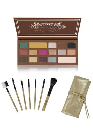 16 Colors Eyeshadow High Pigment Pressed Palette Shimmer & Matte Cosmetic Long Lasting Eye Makeup Palette +7Pcs Makeup Brushes Kit Professional Cosm for Sale in Piscataway Township, NJ