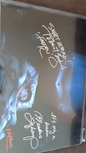 Robert Englund (Freddy Kruger) & Heather Langenkamp signed 11×7 poster for Sale in Minooka, IL