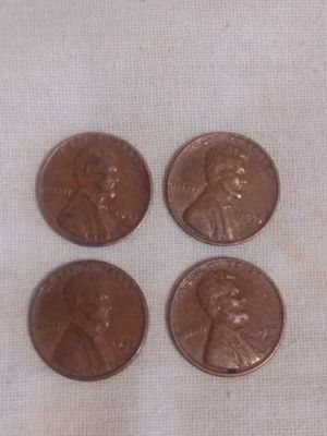 Old wheat pennies all four together for $15 for Sale in Tempe, AZ