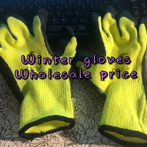 safety winter insulated double lining rubber coated work gloves for Sale in Queens, NY