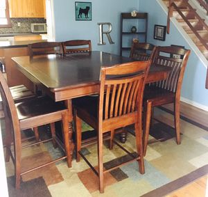 Dining room table, chairs, china cabinet, pub style! for Sale in W CNSHOHOCKEN, PA