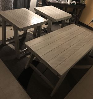 Coffee & 2 end tables farmhouse style for Sale in Bakersfield, CA