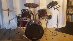5 pc Drum Set w/ Roto-Toms for Sale in Bedford, VA