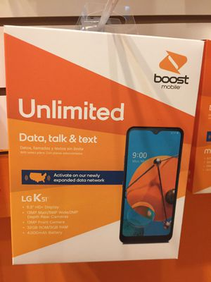 Lg k 51 is free when you switch to boost mobile for Sale in Humble, TX