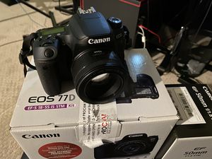 Canon 77d plus lens canon EF 50 mm f/1.8 for Sale in New Canaan, CT