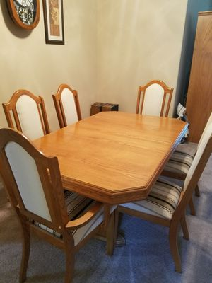 Dining room table and China closet for Sale in Pittsfield, MA