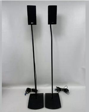 2 Bose Double Cube Speakers Acoustimass Lifestyle with 2 UFS-20 stands & wires for Sale in Baltimore, MD