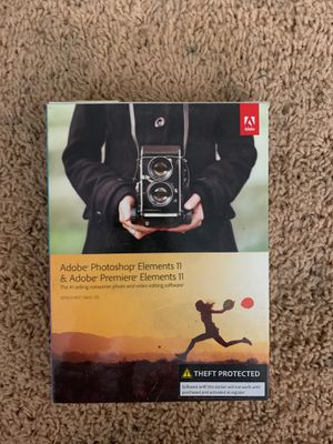 Adobe photoshop elements 11 and adobe premiere elements 11 for Sale in Huntington Beach, CA