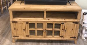 Rustic Wood tv stand for Sale in Midland, TX