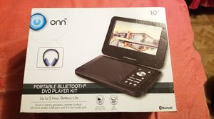"""ONN 10"""" Bluetooth Portable DVD Player Kit With Bluetooth Headphones...5hrs Battery life...New.... for Sale in Houston, TX"""