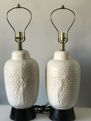 VINTAGE CERAMIC CRACKLE GLAZE LAMPS - MID CENTURY MODERN for Sale in Pasadena, CA