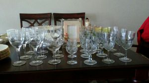 21 assorted crystal wine, champagne and cordial glasses. for Sale in Sebring, FL