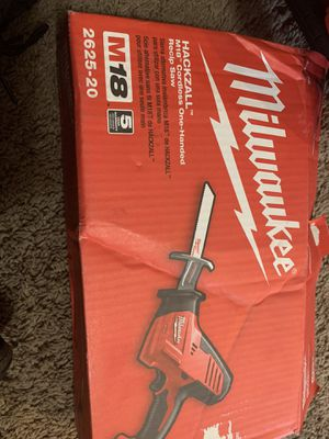 Milwaukee M18 18-Volt Lithium-Ion Cordless Hackzall Reciprocating Saw (Tool-Only) for Sale in Dallas, TX