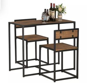 2 Seater Wood Dining Table And Chairs Breakfast Kitchen Room - Small Furniture Set for Sale in Boca Raton, FL
