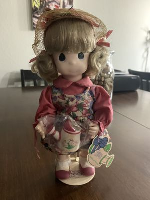 Precious Moment Porcelain March Month Doll New with Tag and stand for Sale in Pembroke Pines, FL
