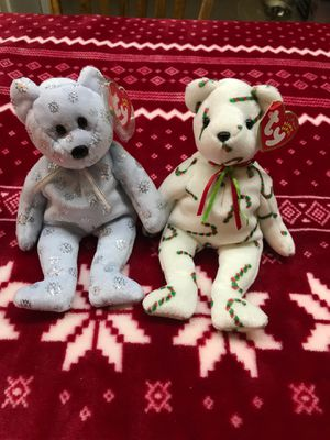 Ty Beanie Baby set if 2 Christmas bears Flaky and Cand-e Mint Condition for Sale in Kannapolis, NC