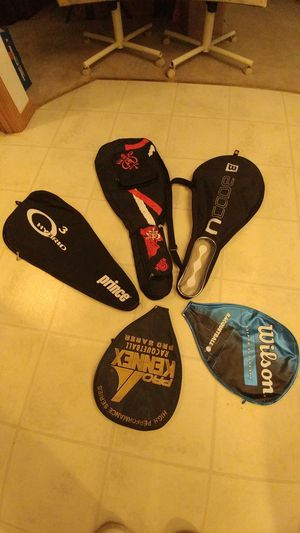 Tennis, pickleball, racquetball and squash protective racket covers. Used for Sale in Vancouver, WA