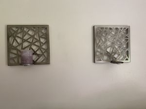 Metal Candle Wall Sconces (SET OF TWO) for Sale in Stow, OH