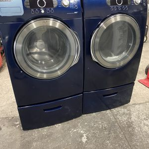 Blue Samsung Set and electric Dryer can deliver for Sale in Sacramento, CA