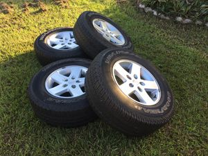 Jeep Wrangler Wheels &Tires set of 4 for Sale in Orlando, FL