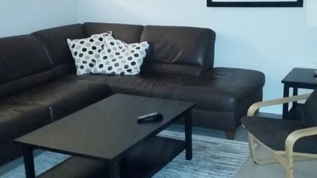 Leather Sofa Sleeper, Coffee Table And Chair for Sale in Scottsdale,  AZ