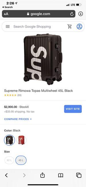 *Authentic * Rimowa * Black Cabin Aluminum SUPREME 🏀 Suit Case for Sale in Los Angeles, CA