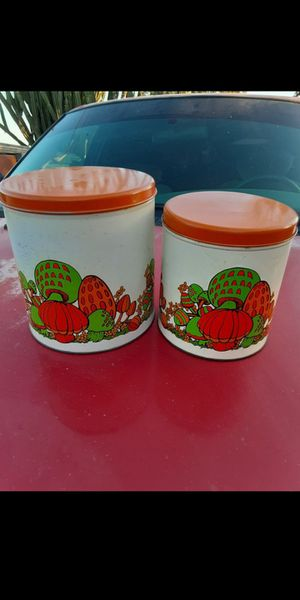 Vintage mushroom canisters for Sale in San Bernardino, CA
