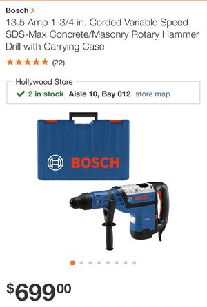 Bosch RH745 Rotary hammer drill chipping hammer NEW IN BOX for Sale in Miami, FL
