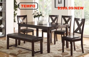 6 PC Dining Set, Brown for Sale in Fountain Valley, CA
