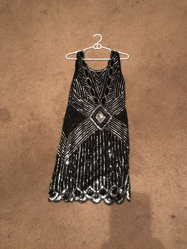 Black and silver short dress