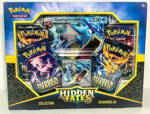 Pokemon cards TCG - Hidden Fates Gyarados GX Collection Box - Factory Sealed for Sale in Pasadena, TX