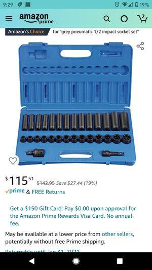 Grey pneumatic socket set 1430mrd for Sale in Ridgefield, NJ