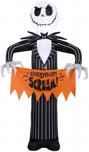 Inflatable Nightmare Before Christmas Character with Banner For Halloween, 5 ft. for Sale in Henderson, NV