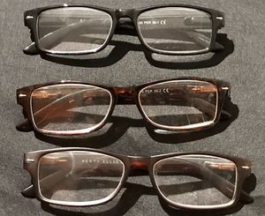 Set of 3 Perry Ellis Reading Glasses +2.50 for Sale in Miami, FL