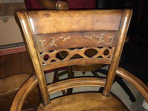 2 Booker wood solid Bar Stools for Sale in Alpharetta, GA