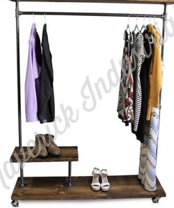 Half Shelf Clothing Rack - Pipe Furniture - Industrial Clothes Rack for Sale in Los Angeles,  CA